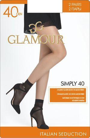 Носки SIMPLY 20 CZ*2 Glamour 24/240