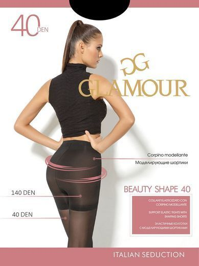 Колготки BEAUTY SHAPE 40 Glamour 6/72 (NERO, 5)