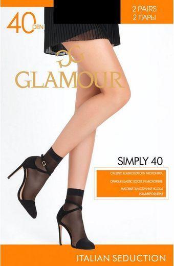 Носки SIMPLY 40 CZ*2 Glamour 24/240