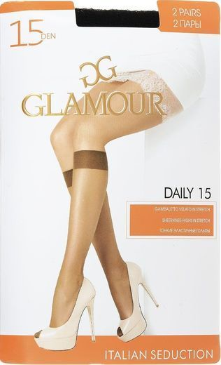 Гольфы DAILY 15 GB*2 Glamour 18/180