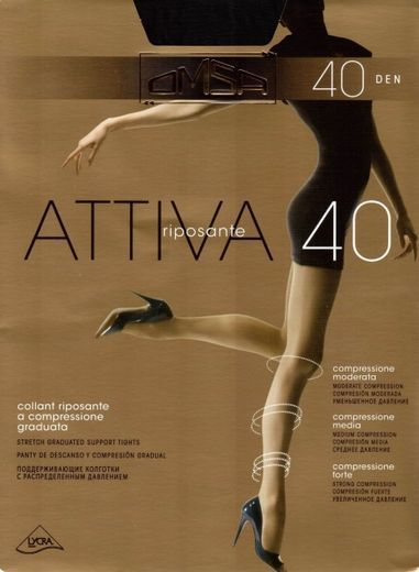 Колготки ATTIVA 40 Omsa 10/50 (VISON, 5)