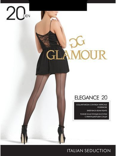 Колготки ELEGANCE 20 (шов) Glamour 6/60
