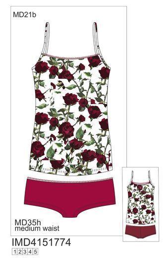 IMD 4151774 майка+шорты Roses